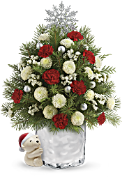 Send a Hug Cuddly Christmas Tree by Teleflora Flowers