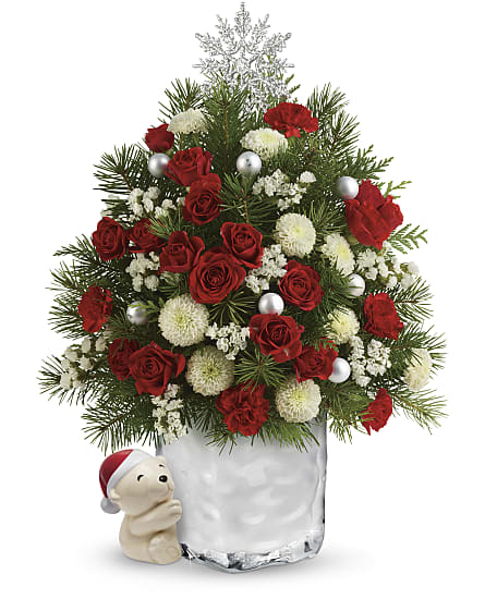 Teleflora Christmas Catalog 2021 Send A Hug Cuddly Christmas Tree By Teleflora In Los Angeles Ca Sears Flowers