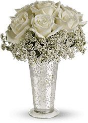 White Lace Centerpiece Flowers