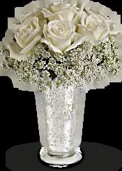 Teleflora's White Lace Centrepiece Flowers