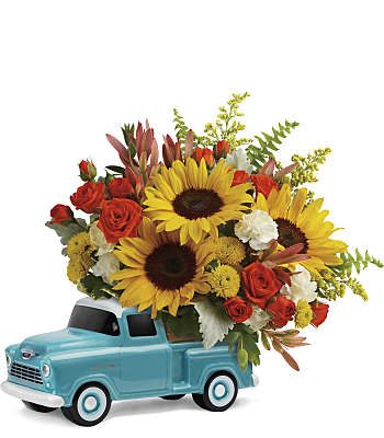 Chevy Pickup Bouquet Flowers