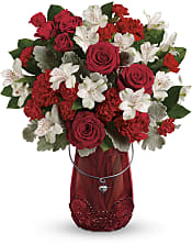 Red Haute Bouquet Flowers