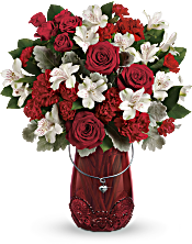 Teleflora's Red Haute Bouquet Flowers