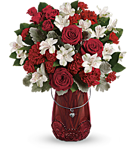 Teleflora's Red Haute Bouquet, picture