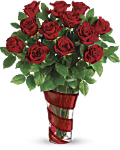 Teleflora's Dancing In Roses Bouquet Flowers