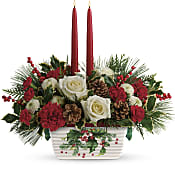 Halls Of Holly Centerpiece Flowers
