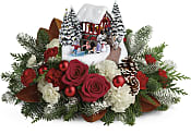 Thomas Kinkade's Snowfall Dreams Bouquet Flowers