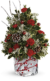 Festive Berries And Holly Tree Flowers
