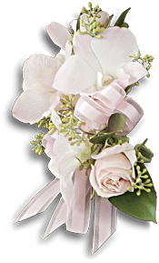 Beautiful Blush Corsage Flowers