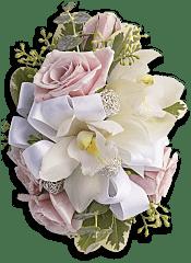 Dreamy Pink Wristlet Flowers