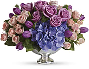 Purple Elegance Centrepiece Flowers