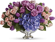 Purple Elegance Centerpiece Flowers