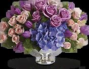 Purple Elegance Centerpiece Flowers