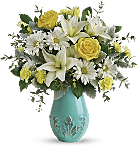 Teleflora's Aqua Dream Bouquet, picture