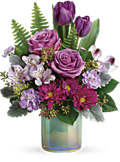 Teleflora's Art Glass Garden Bouquet Flowers