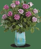 Watercolor Roses Bouquet Flowers