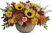 Autumn Sunbeams Centerpiece Flowers