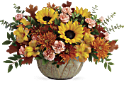 Teleflora's Autumn Sunbeams Centrepiece Flowers