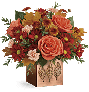 Copper Petals Bouquet Flowers