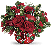 Teleflora's Deck The Holly Ornament Bouquet Flowers