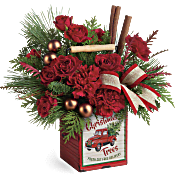 Teleflora's Merry Vintage Christmas Bouquet Flowers