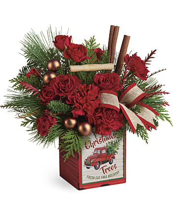 Merry Vintage Christmas Bouquet Flowers