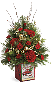 Teleflora's Vintage Greetings Tree Flowers