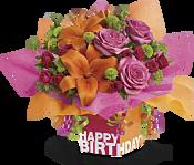 Rosy Birthday Present Flowers