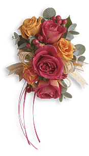 Sunset Beauty Wristlet Flowers