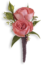 Rose Simplicity Boutonniere Flowers