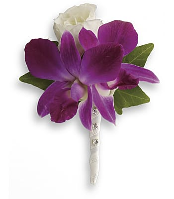 Fresh in Fuchsia Boutonniere Flowers