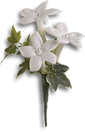 White Gloves Boutonniere Flowers