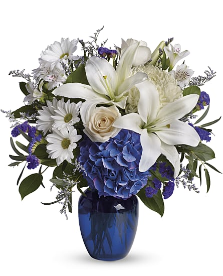Beautiful In Blue Flowers Beautiful In Blue Flower Bouquet