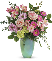 Enamored With Aqua Bouquet Flowers