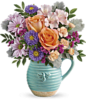 Teleflora's Busy Bee Pitcher Bouquet Flowers