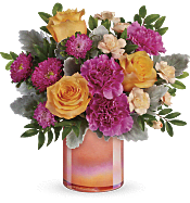 Perfect Spring Peach Bouquet Flowers