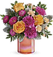 Teleflora's Perfect Spring Peach Bouquet Flowers
