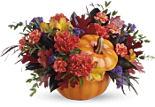 Hauntingly Pretty Pumpkin Bouquet Flowers