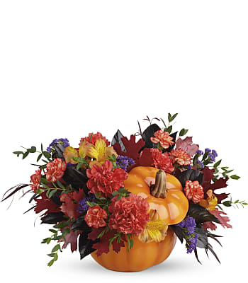 Teleflora's Hauntingly Pretty Pumpkin Bouquet Flowers
