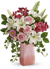 Pink n' Peach Paradise Bouquet Flowers