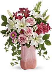 Teleflora's Pink n' Peach Paradise Bouquet Flowers
