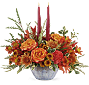 Teleflora's Bountiful Blessings Centerpiece Flowers
