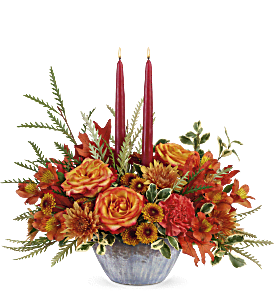 Teleflora's Bountiful Blessings Centerpiece, picture