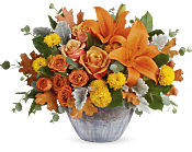Golden Bounty Centerpiece Flowers