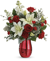 Radiantly Rouge Bouquet Flowers