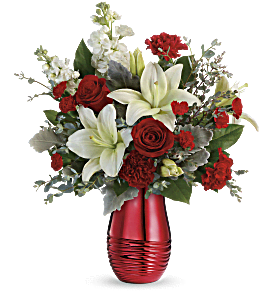 Teleflora's Radiantly Rouge Bouquet, picture