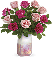 Teleflora's Rose Quartz Kisses Bouquet Flowers