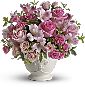Teleflora's Pink Potpourri Bouquet with Roses Flowers