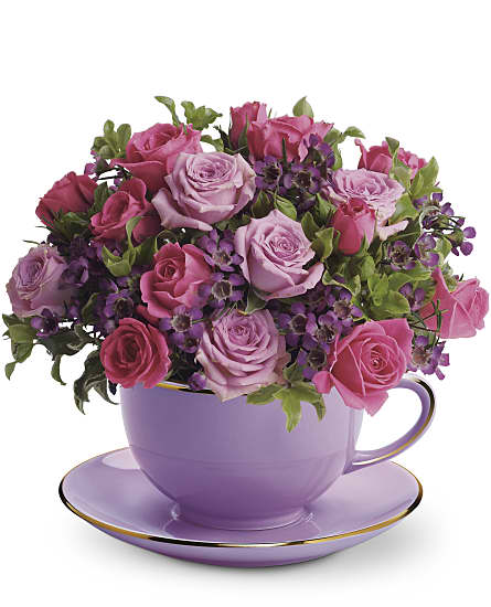 Cup of Roses Bouquet Flowers