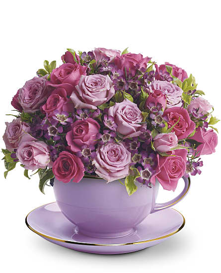 Cup of Roses Bouquet Flowers Cup of Roses Bouquet Flowers